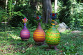 Glasstudio Borowski Turkey, kalkoen groen met oranje strepen