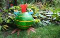 Glasstudio Borowski Froggy, Kikker groen met oranje strepen
