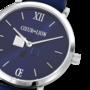 Coeur de Lion Horloge 7600/ /0707 Blue Sunray Lederen band