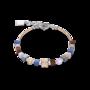 Coeur de Lion Armband 5009/ /0740 Blue-Brown-Lilac