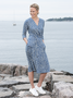 Ritva Falla Pauline jurk blauw