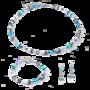 Coeur de Lion Armband 5011/ /2014 Aqua-White