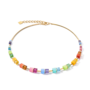 Coeur de Lion Ketting 5020/ /1535 Multicolour Rainbow-Gold