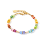 Coeur de Lion Armband 5020/ /1535 Multicolor Rainbow-Gold