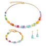 Coeur de Lion Oorbellen 5020/ /1535 Multicolor Rainbow-Gold